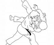 Coloriage Judo maternelle