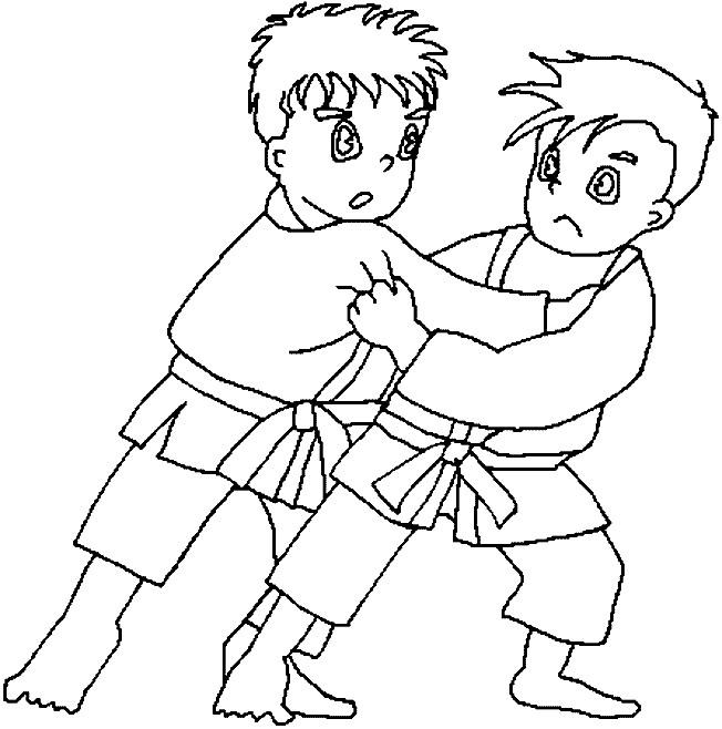Coloriage et dessins gratuits Judo pour enfant à imprimer