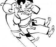 Coloriage et dessins gratuit Judo pour enfants à imprimer