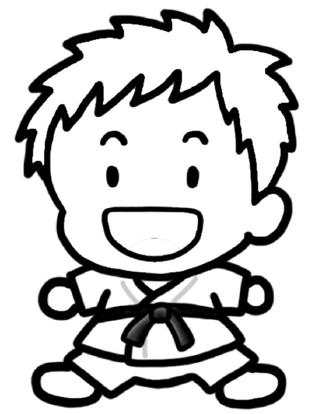 Coloriage et dessins gratuits Judo tout en riant à imprimer
