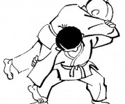 Coloriage Judo Waza Ari