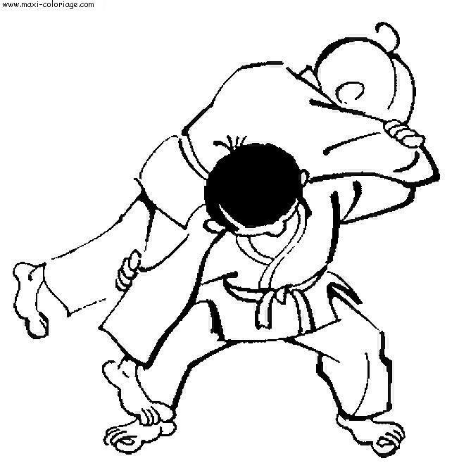 Coloriage et dessins gratuits Judo Waza Ari à imprimer