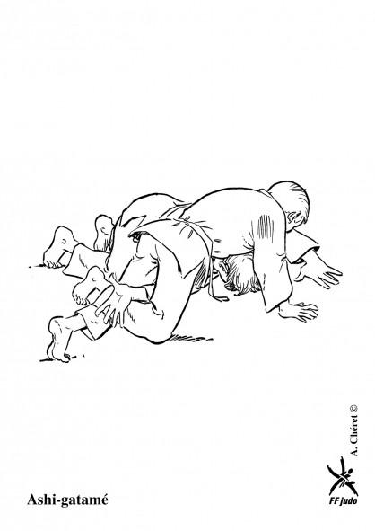 Coloriage et dessins gratuits Judoka dominant à imprimer
