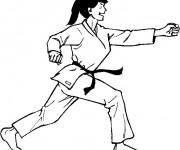 Coloriage Judoka femme