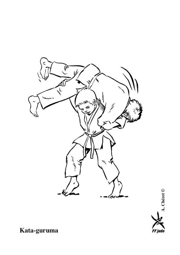 Coloriage et dessins gratuits Judoka le haut niveau à imprimer