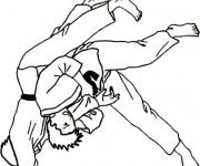 Coloriage et dessins gratuit Judokas à imprimer