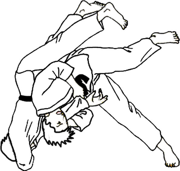 Coloriage et dessins gratuits Judokas à imprimer