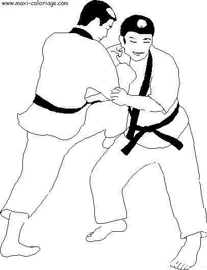 Coloriage et dessins gratuits Judokas japonais à imprimer