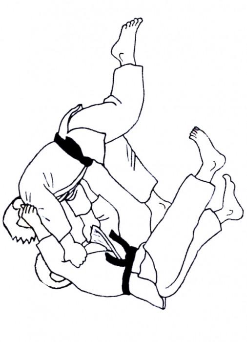 Coloriage et dessins gratuits Judokas K.O à imprimer