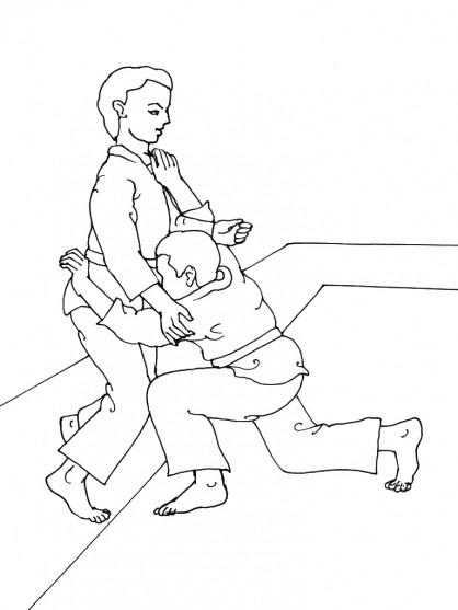 Coloriage et dessins gratuits Technique Judo stylisé à imprimer