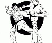 Coloriage et dessins gratuit Combat Karaté à imprimer