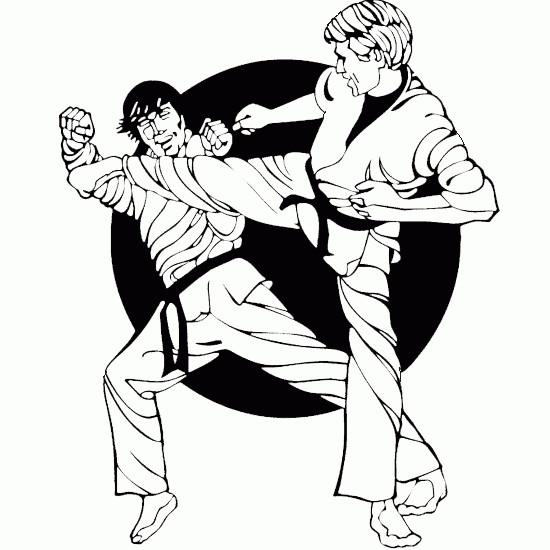 Coloriage et dessins gratuits Combat Karaté à imprimer