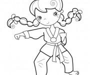 Coloriage et dessins gratuit Joueur Karaté mignonne à imprimer