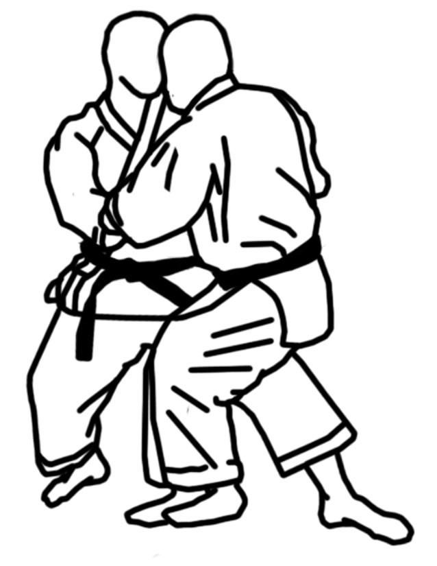 Coloriage et dessins gratuits Karaté art martial à imprimer
