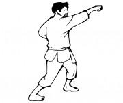 Coloriage Karaté attaque avec les mains