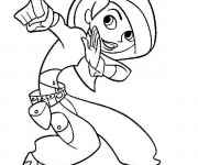 Coloriage et dessins gratuit Karaté dessin animé à imprimer