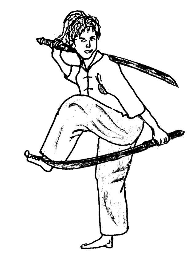 Coloriage et dessins gratuits Karaté et épées à imprimer