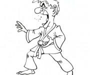 Coloriage et dessins gratuit Karaté humoristique à imprimer