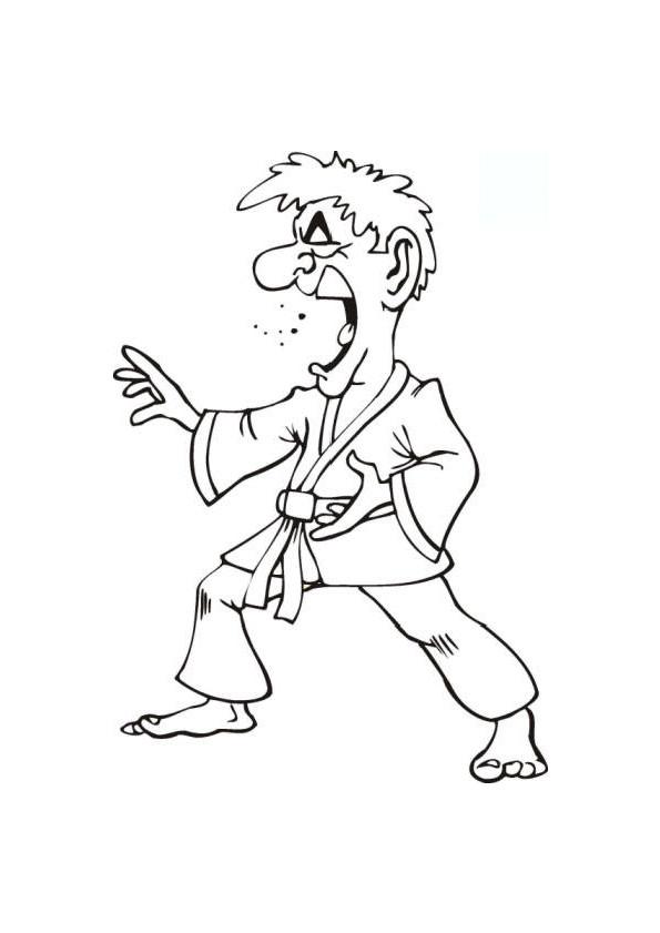 Coloriage et dessins gratuits Karaté humoristique à imprimer