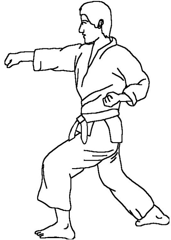 Coloriage et dessins gratuits Karaté joueur à imprimer