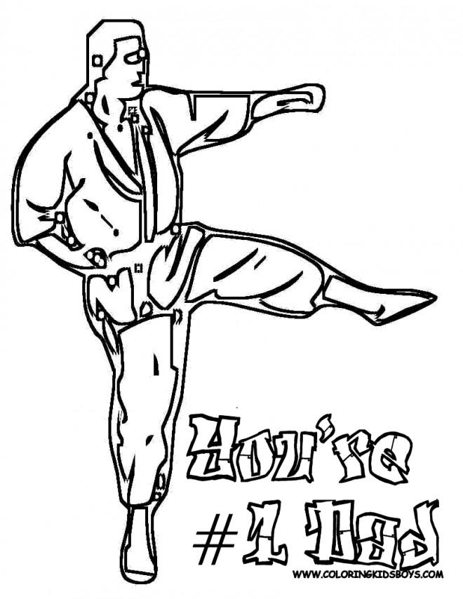 Coloriage et dessins gratuits Karaté Logo à imprimer