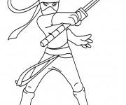 Coloriage Karaté Ninja