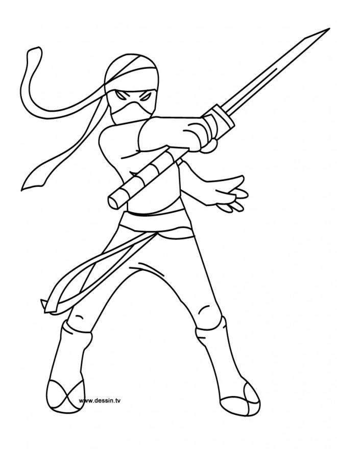 Coloriage et dessins gratuits Karaté Ninja à imprimer