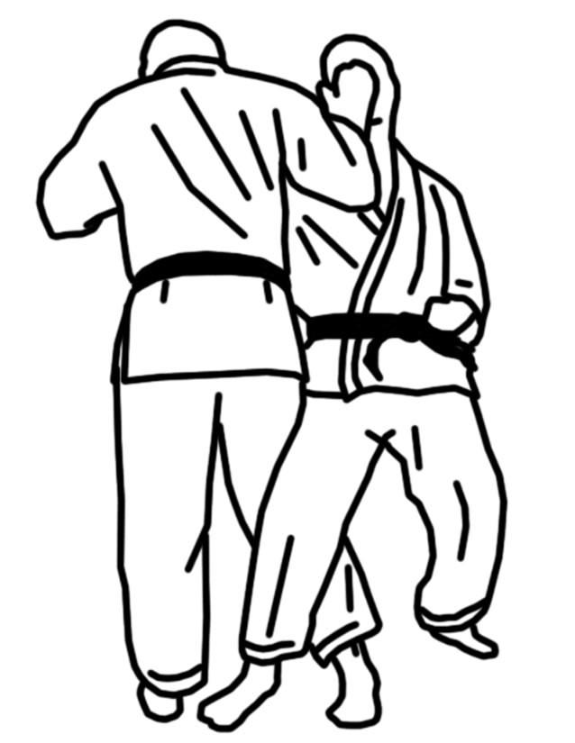 Coloriage et dessins gratuits Karaté sport de défense à imprimer