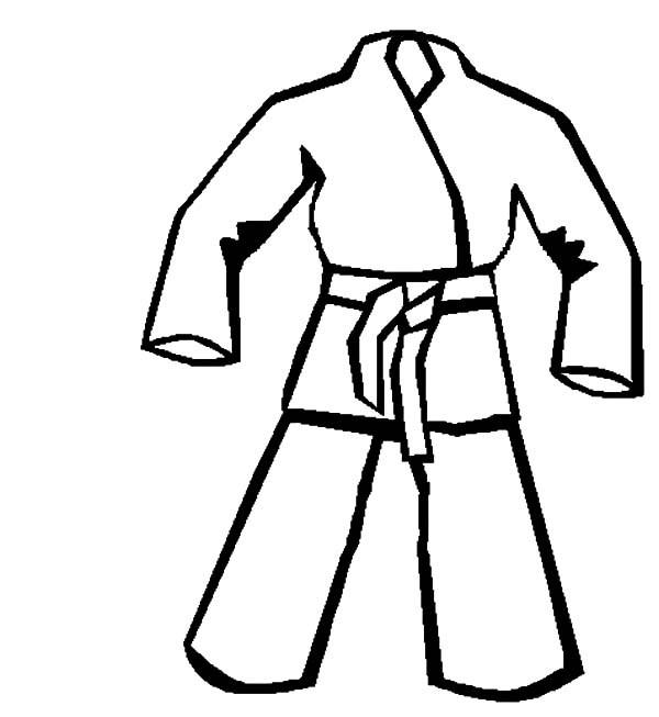 Coloriage et dessins gratuits Kimono Karaté facile à imprimer