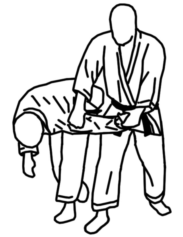 Coloriage et dessins gratuits Techniques et position Karaté à imprimer