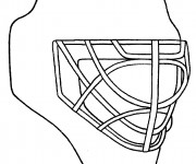 Coloriage Casque de Hockey