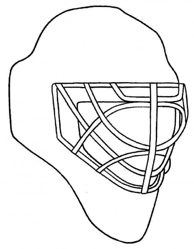 Coloriage et dessins gratuits Casque de Hockey à imprimer