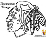 Coloriage Club de Hockey Blackhawks Chicago