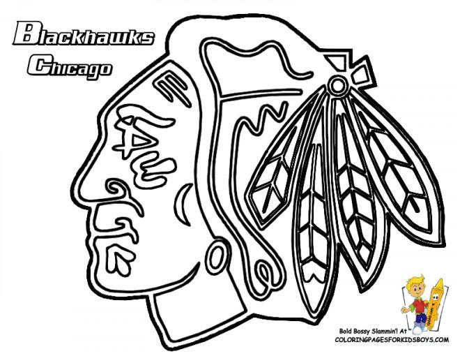 Coloriage et dessins gratuits Club de Hockey Blackhawks Chicago à imprimer