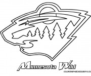 Coloriage Club de Hockey Minnesota Wild