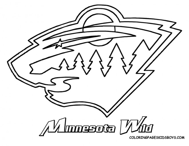 Hockey mascot coloring pages ~ Coloriage Club de Hockey Minnesota Wild dessin gratuit à ...