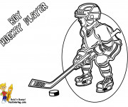 Coloriage Enfant Joueur de Hockey