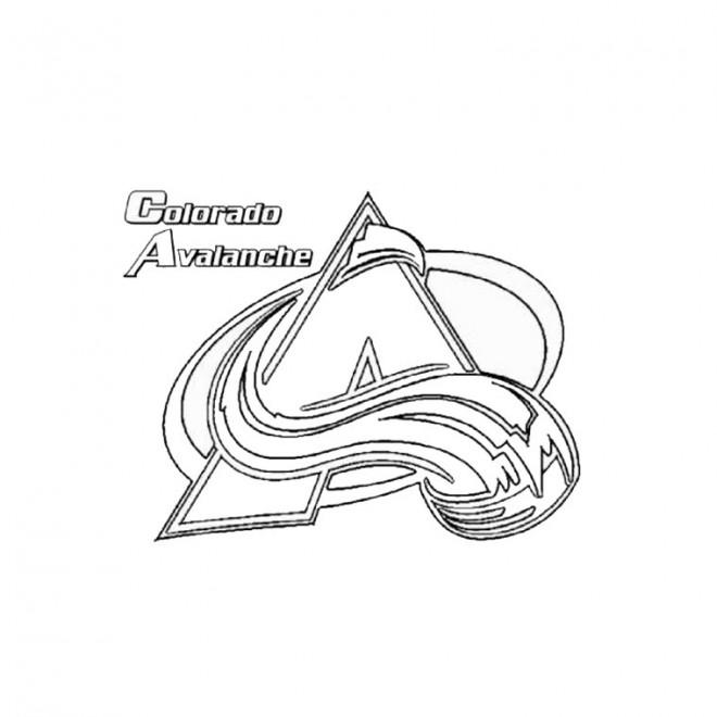 Coloriage et dessins gratuits Équipe de Hockey Colorado Avalanche à imprimer