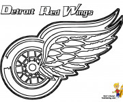 Coloriage Équipe de Hockey Detroit Red Wings