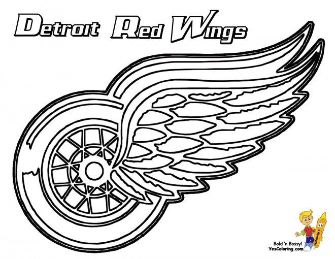 coloriage quipe de hockey detroit red wings. Black Bedroom Furniture Sets. Home Design Ideas