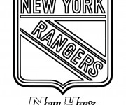 Coloriage Équipe de Hockey New York Rangers