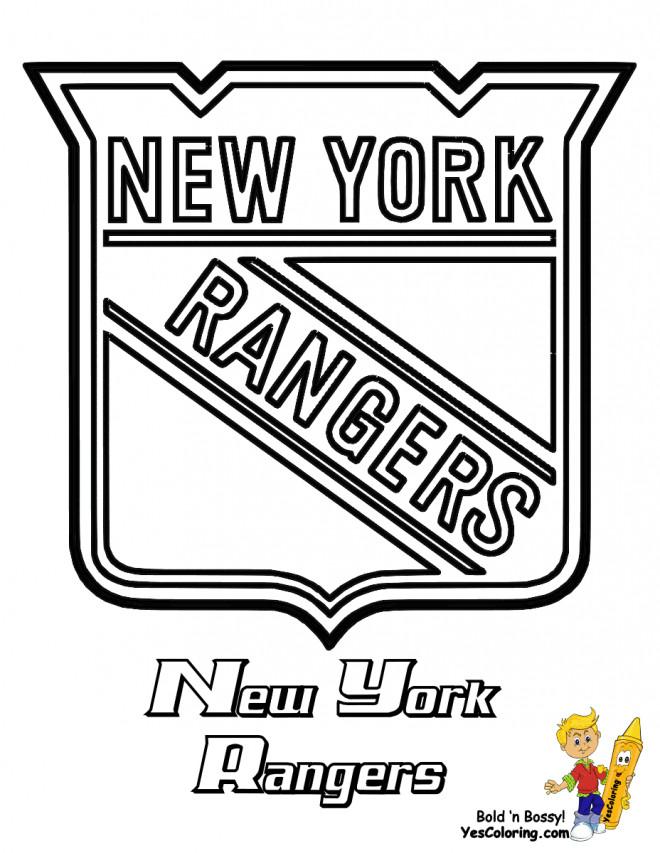 Coloriage et dessins gratuits Équipe de Hockey New York Rangers à imprimer
