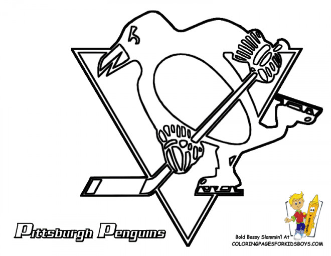 Coloriage Equipe de Hockey Pittsburgh
