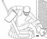 Coloriage Gardien de Hockey adulte