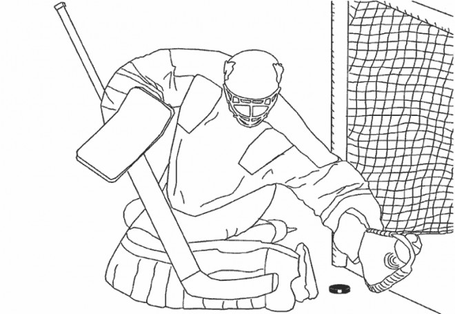Coloriage gardien de hockey adulte dessin gratuit imprimer - Gardien de but dessin ...