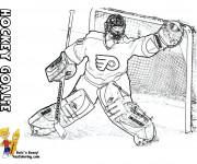 Coloriage et dessins gratuit Goal au Hockey sur glace à imprimer