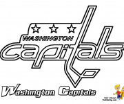 Coloriage Hockey sur glace  Équipe de Washington Capitals