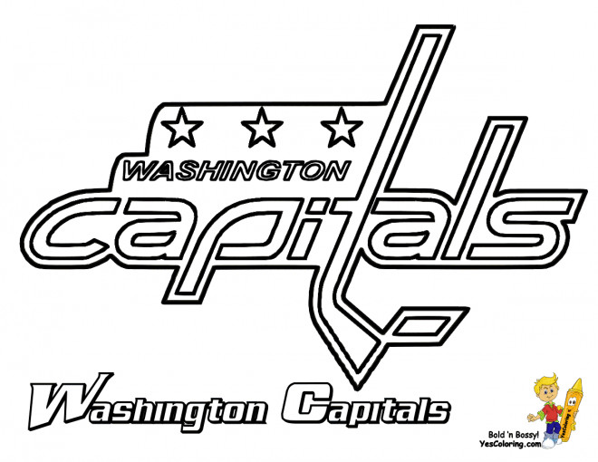 Coloriage hockey sur glace quipe de washington capitals - Dessin hockey ...