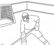 Coloriage et dessins gratuit Hockey sur glace maternelle à imprimer