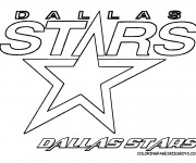 Coloriage Logo d'équipe de Hockey Dallas Stars